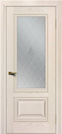 Двери ЛайнДор Виолетта жемчуг тон 27 стекло Лилия