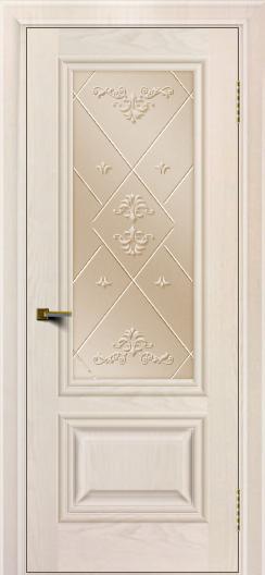 Двери ЛайнДор Виолетта жемчуг тон 27 стекло Прима бронза