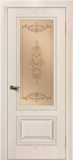 Двери ЛайнДор Виолетта жемчуг тон 27 стекло Эрика