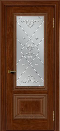 Двери ЛайнДор Виолетта красное дерево тон 10 стекло Прима