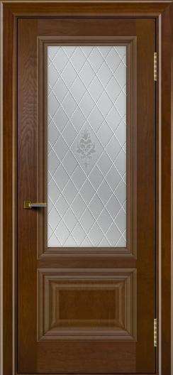 Двери ЛайнДор Виолетта тон 30 стекло Лилия