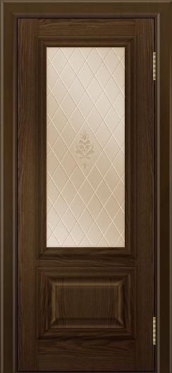 Двери ЛайнДор Виолетта тон 35 стекло Лилия бронза