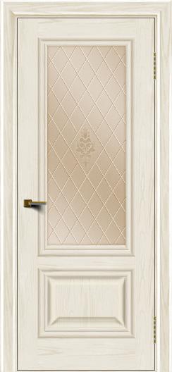 Двери ЛайнДор Виолетта тон 36 стекло Лилия бронза