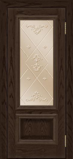 Двери ЛайнДор Виолетта тон 39 стекло Прима бронза