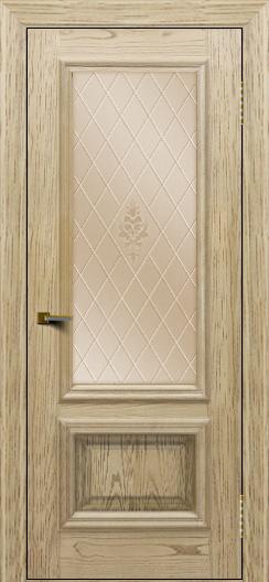 Двери ЛайнДор Виолетта тон 40 стекло Лилия бронза