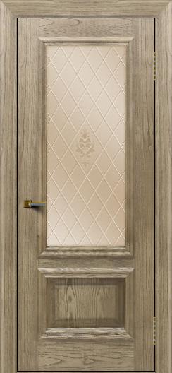 Двери ЛайнДор Виолетта тон 41 стекло Лилия бронза
