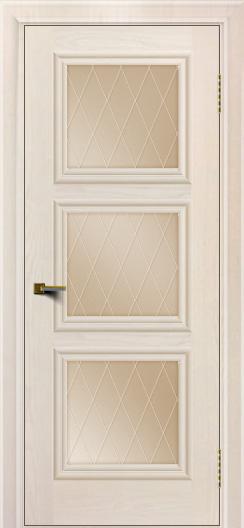 Двери ЛайнДор Грация жемчуг тон 27 стекло Лондон бронза