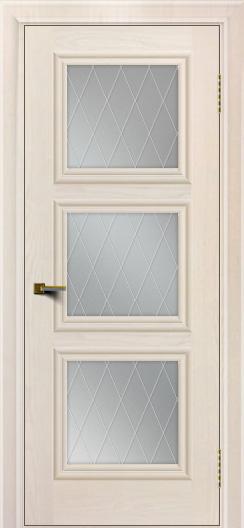 Двери ЛайнДор Грация жемчуг тон 27 стекло Лондон