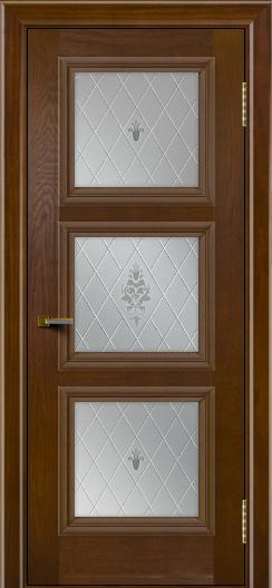 Двери ЛайнДор Грация тон 30 стекло Лилия