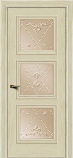 Двери ЛайнДор Грация тон 34 стекло Прима бронза
