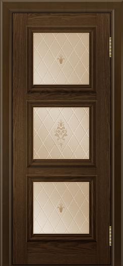 Двери ЛайнДор Грация тон 35 стекло Лилия бронза