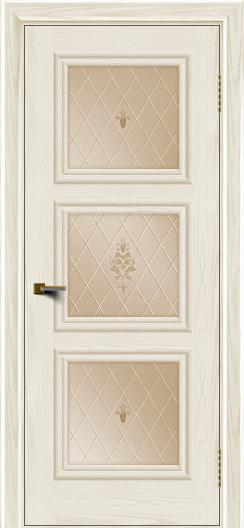 Двери ЛайнДор Грация тон 36 стекло Лилия бронза