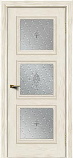 Двери ЛайнДор Грация тон 36 стекло Лилия