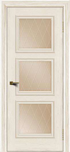 Двери ЛайнДор Грация тон 36 стекло Лондон бронза