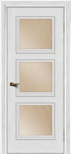 Двери ЛайнДор Грация тон 38 стекло Лондон бронза