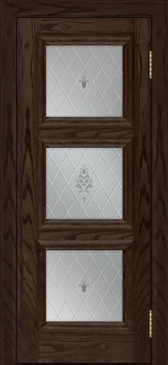 Двери ЛайнДор Грация тон 39 стекло Лилия