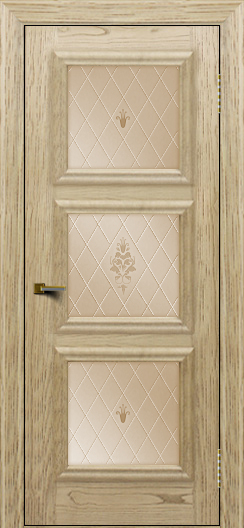 Двери ЛайнДор Грация тон 40 стекло Лилия бронза