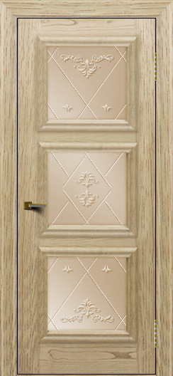Двери ЛайнДор Грация тон 40 стекло Прима бронза
