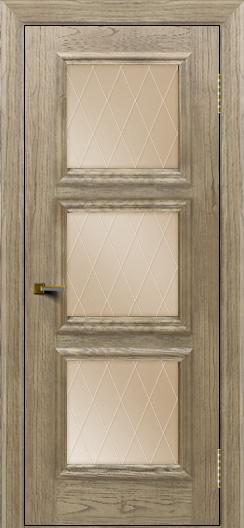 Двери ЛайнДор Грация тон 41 стекло Лондон бронза
