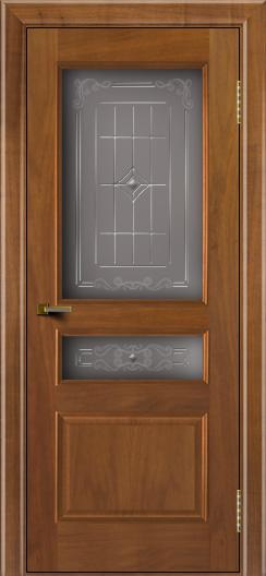 Двери ЛайнДор Калина американский орех тон 23 стекло Калина