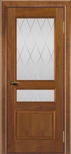 Двери ЛайнДор Калина американский орех тон 23 стекло Лондон