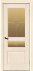 Двери ЛайнДор Калина беленый дуб тон 16 стекло Гелиос