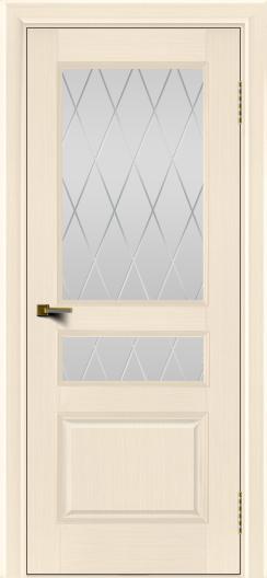 Двери ЛайнДор Калина беленый дуб тон 16 стекло Лондон