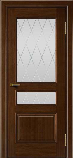 Двери ЛайнДор Калина орех тон 2 стекло Лондон