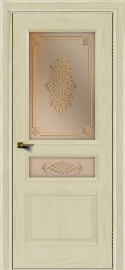 Двери ЛайнДор Калина тон 34 стекло Дамаск бронза 2