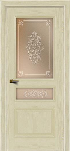 Двери ЛайнДор Калина тон 34 стекло Дамаск бронза