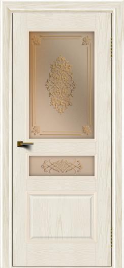 Двери ЛайнДор Калина тон 36 стекло Дамаск бронза 2