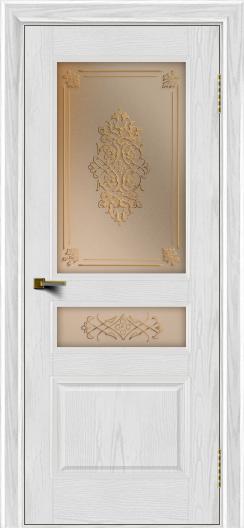 Двери ЛайнДор Калина тон 38 стекло Дамаск бронза 2