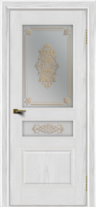 Двери ЛайнДор Калина тон 38 стекло Дамаск