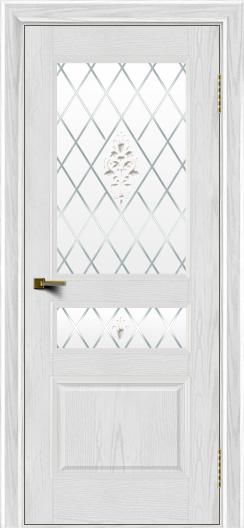 Двери ЛайнДор Калина тон 38 стекло Лилия