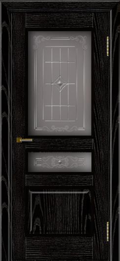Двери ЛайнДор Калина черная эмаль тон 26 стекло Калина