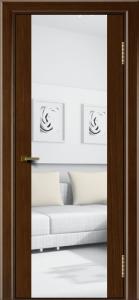 Двери ЛайнДор Камелия К орех тон 2 стекло Зеркало