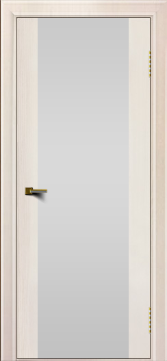 Двери ЛайнДор Камелия К ясень жемчуг тон 27 стекло Белое