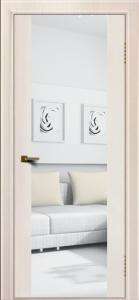 Двери ЛайнДор Камелия К ясень жемчуг тон 27 стекло Зеркало