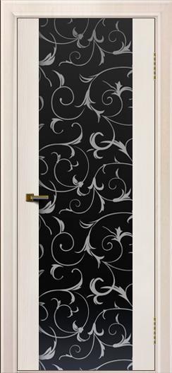 Двери ЛайнДор Камелия К ясень жемчуг тон 27 стекло Кружева