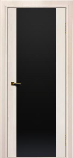 Двери ЛайнДор Камелия К ясень жемчуг тон 27 стекло Черное