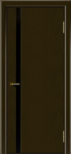 Двери ЛайнДор Камелия К1 тон 35 стекло Черное