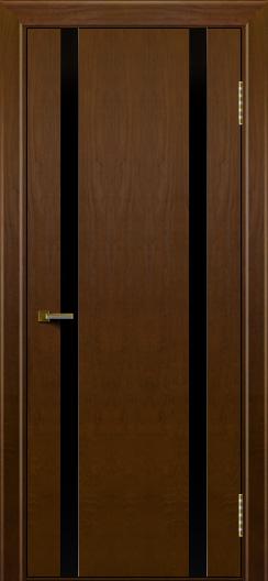 Двери ЛайнДор Камелия К2 тон 30 стекло Черное