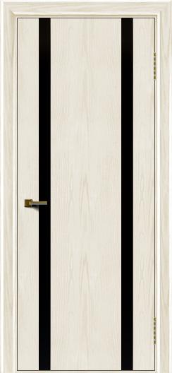 Двери ЛайнДор Камелия К2 тон 36 стекло Черное