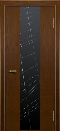 Двери ЛайнДор Камелия К4 тон 30 стекло Графит