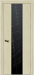 Двери ЛайнДор Камелия К4 тон 34 стекло Графит