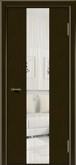 Двери ЛайнДор Камелия К4 тон 35 стекло Водопад