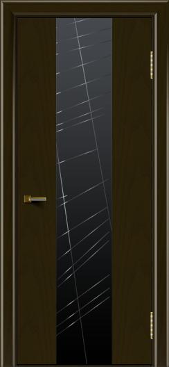 Двери ЛайнДор Камелия К4 тон 35 стекло Графит