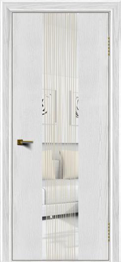 Двери ЛайнДор Камелия К4 тон 38 стекло Водопад