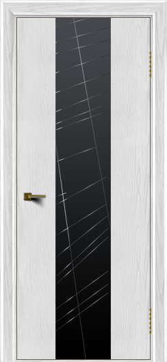 Двери ЛайнДор Камелия К4 тон 38 стекло Графит