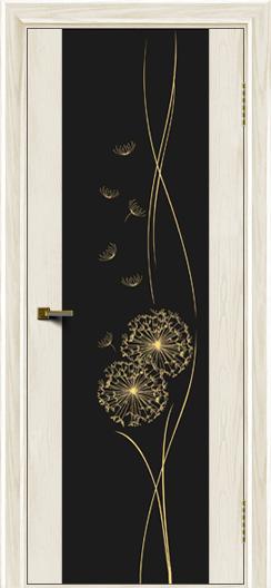 Двери ЛайнДор Камелия тон 36 стекло Одуванчик